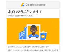 Google AdSense の審査に通ったよ!